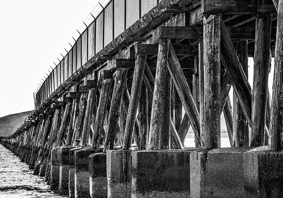 Supports on Old Abandoned Pier by Darryl Brooks