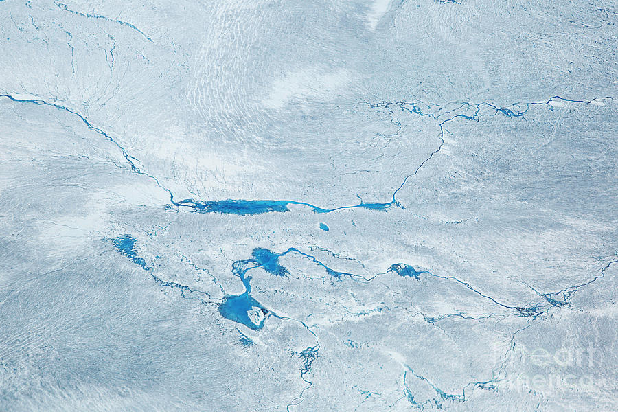 Deep Photograph - Supra Glacial Lakes Over The Ice Sheet by Milan Petrovic