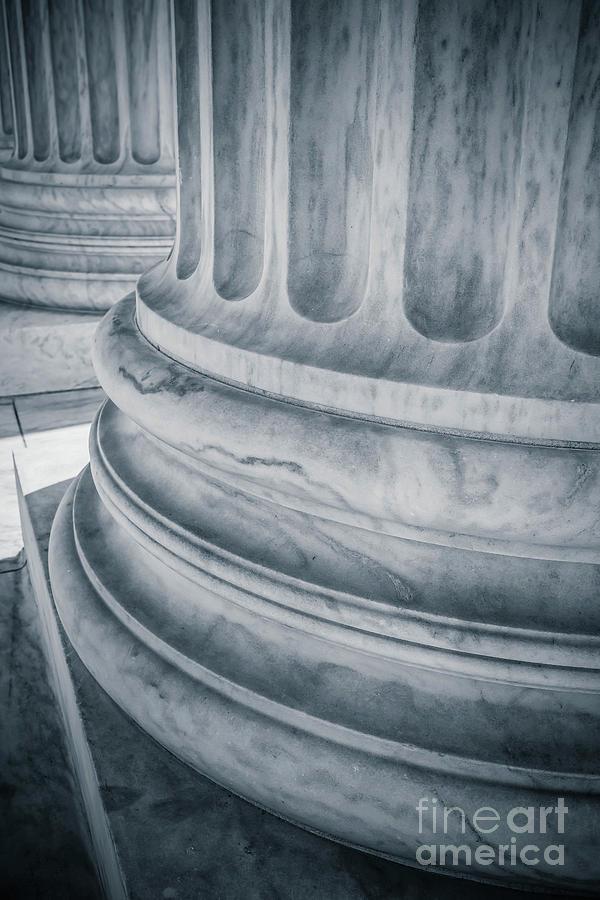Supreme Court Columns Washington DC by Edward Fielding
