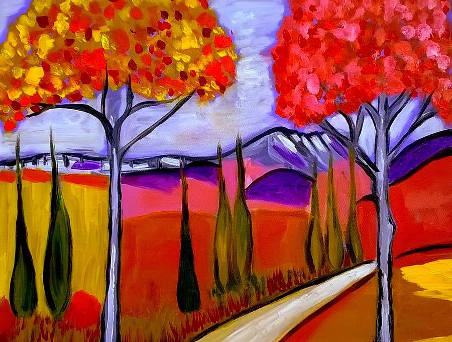 sur le chemin du Mont St Victoire by Rusty Gladdish