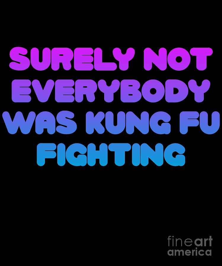 Surely Not Everybody Was Kung Fu Fighting Funny by Flippin Sweet Gear