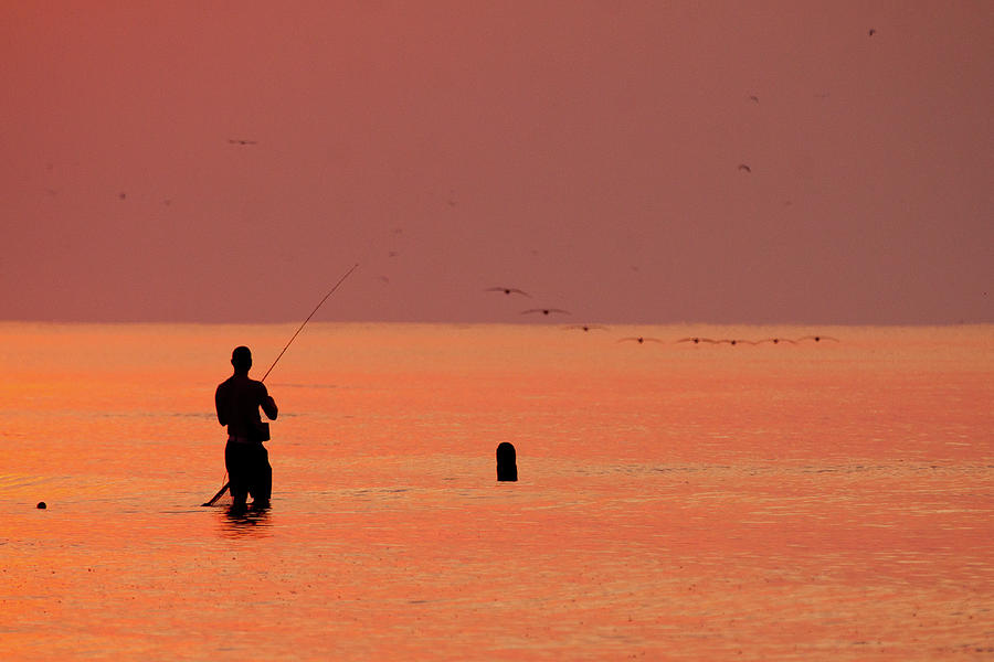 Surf Fishing Scenery Photograph by Photography By Ron Wooten