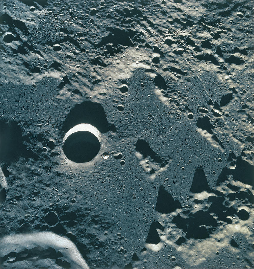 Surface Of The Moon Photograph by Stockbyte