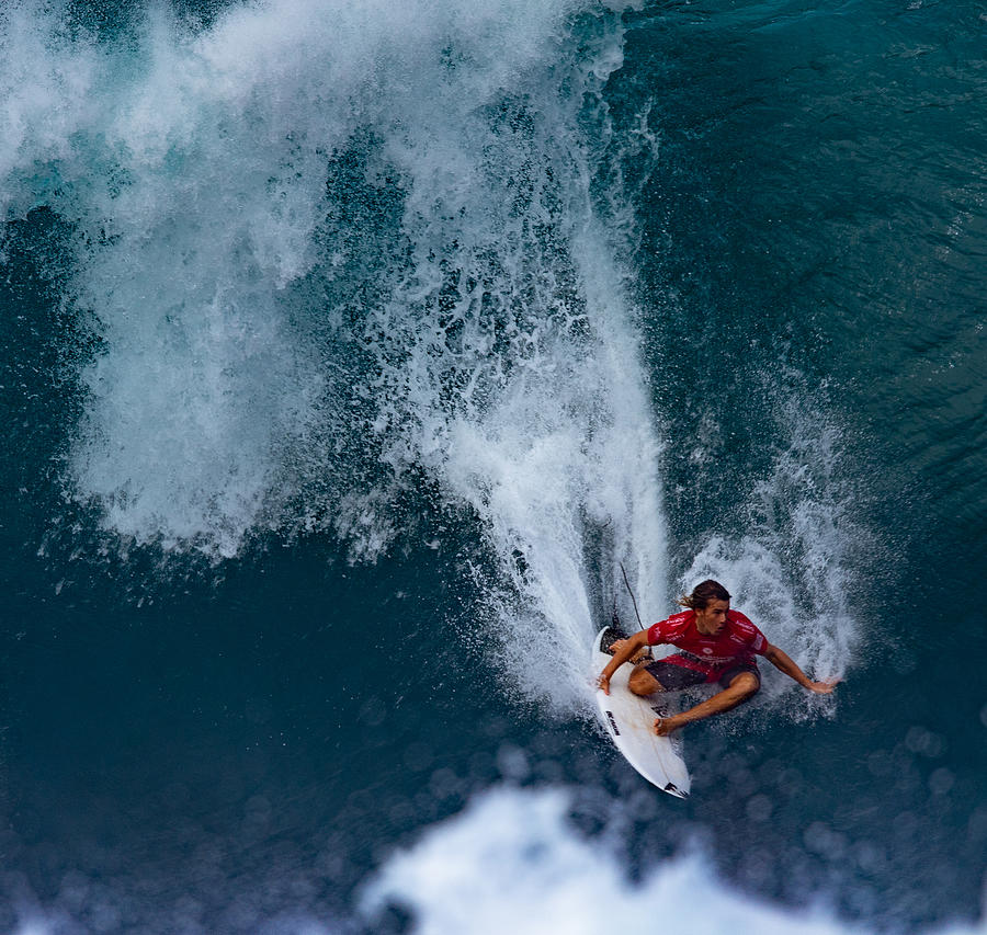Wave Photograph - Surfer Man by Cheng Chang