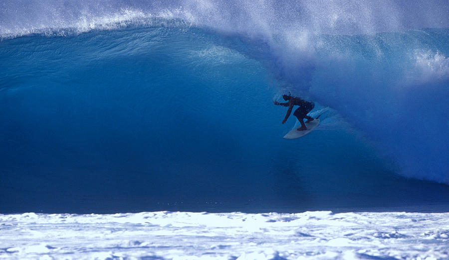 Surfer On A Blue Wave Photograph by Ianmcdonnell