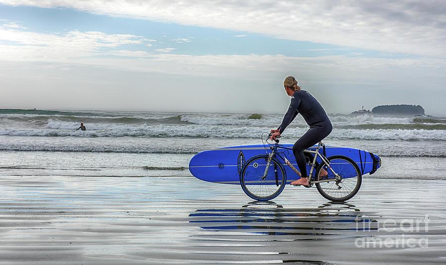 Surfer on Bike by Mauro Celotti
