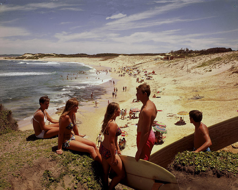 Surfers & Girls In Bikinis, Soldiers Photograph by Robin Smith