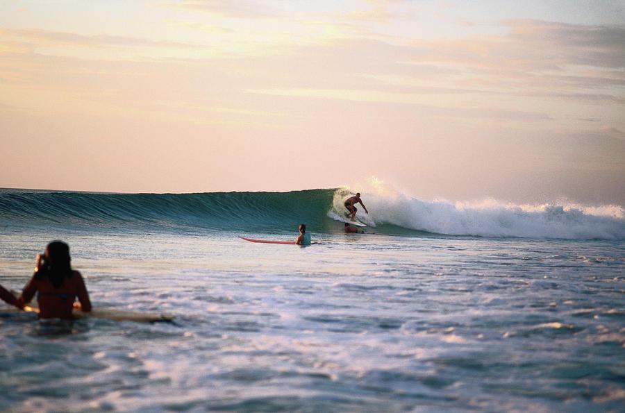 Surfing At Avellanas Beach, Nicoya Photograph by Aaron Mccoy