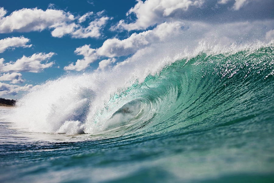 Wave Photograph - Cloud Puff Curl by Sean Davey
