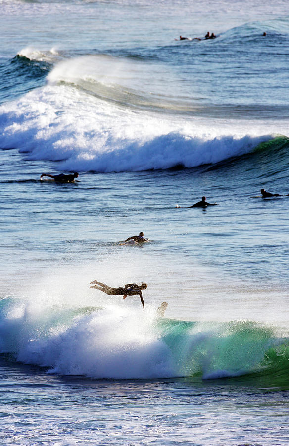 Surfing At Southern End Of Bondi Beach Photograph by Oliver Strewe