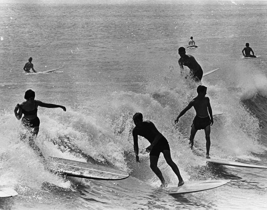 Surfing Derby Photograph by Fox Photos