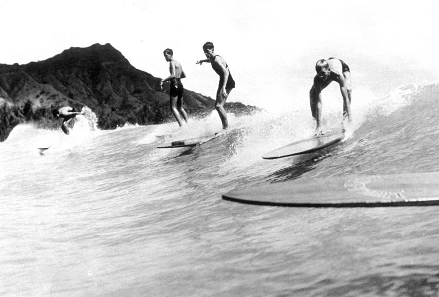 Surfing In Hawaii Photograph by General Photographic Agency