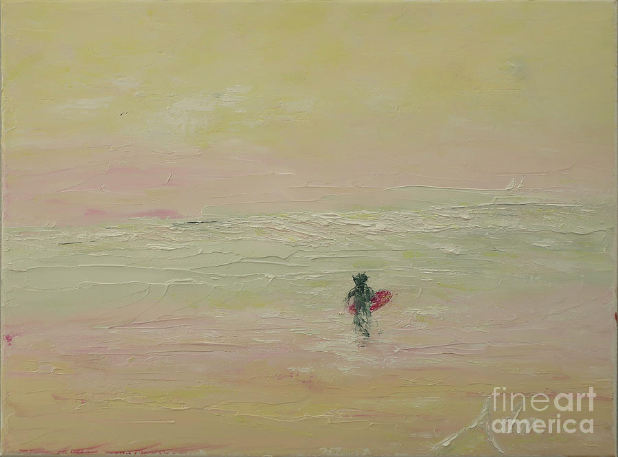 Palette Knife Art Painting - Surfing The Light by Felipe Adan Lerma