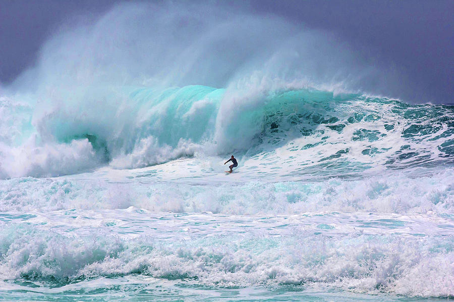 Surfing The Pipeline Hawaii - They Were Photograph by Julie Thurston