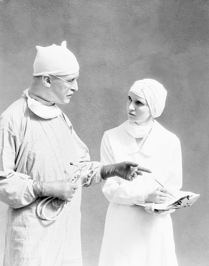 Surgeon And Nurse Photograph by H. Armstrong Roberts