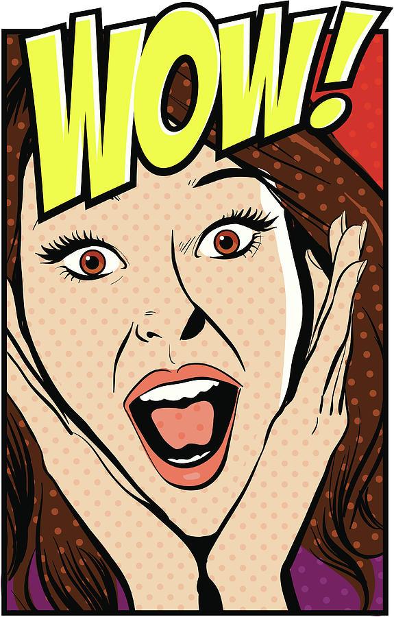 Surprised Woman Digital Art by Mcmillan Digital Art