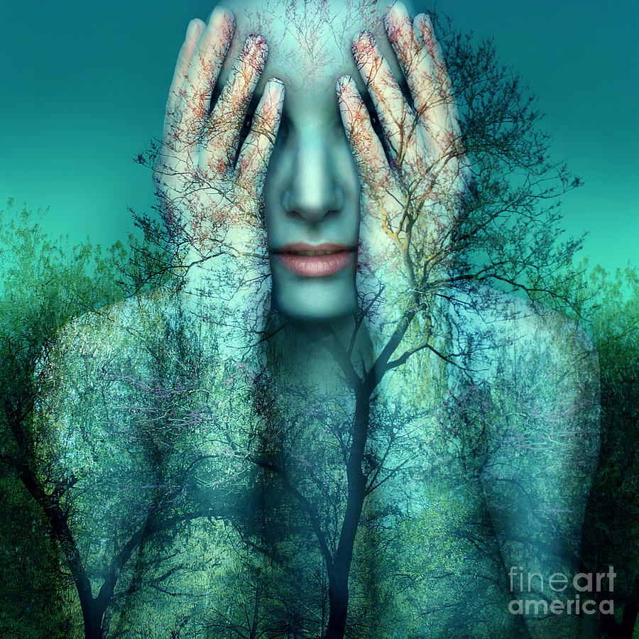 Woman Photograph - Surreal And Artistic Image Of A Girl by Valentina Photos
