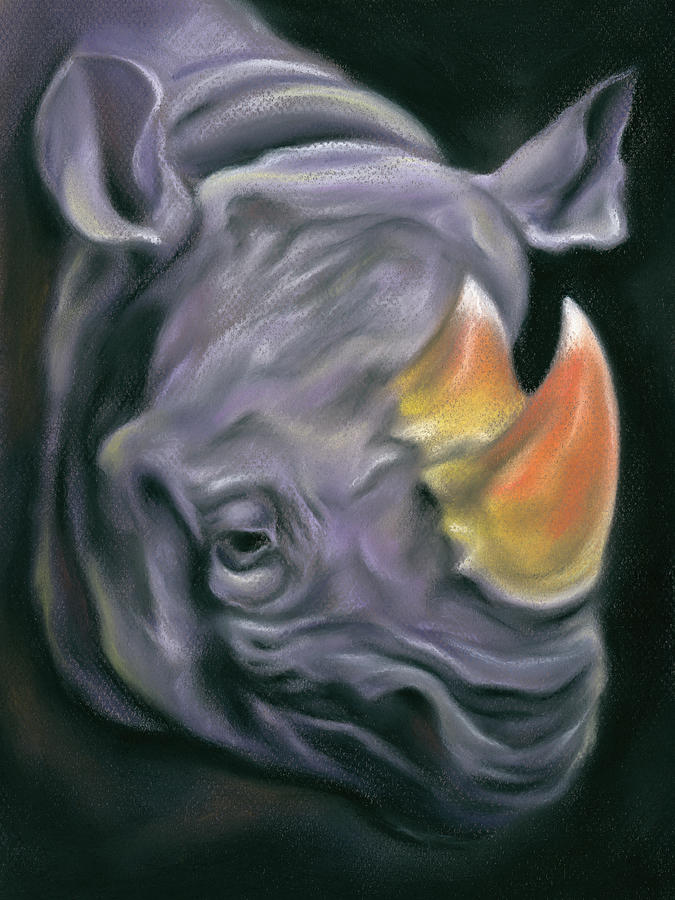 Surreal Candy Corn Rhinoceros by MM Anderson
