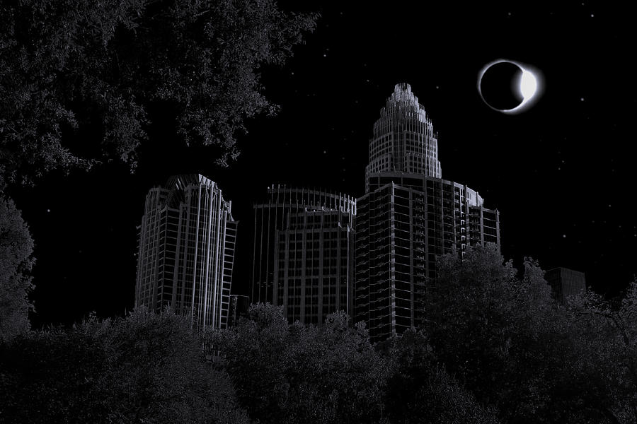 Surreal Charlotte Eclipse Photograph