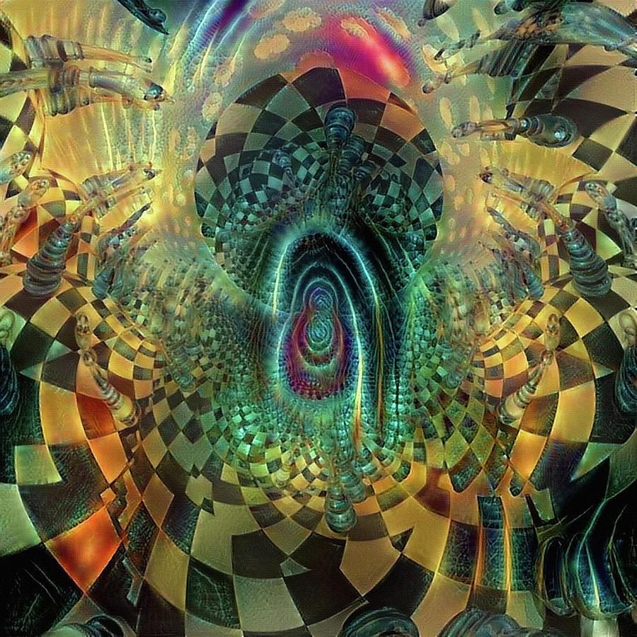 Surreal Chess Board Digital Art