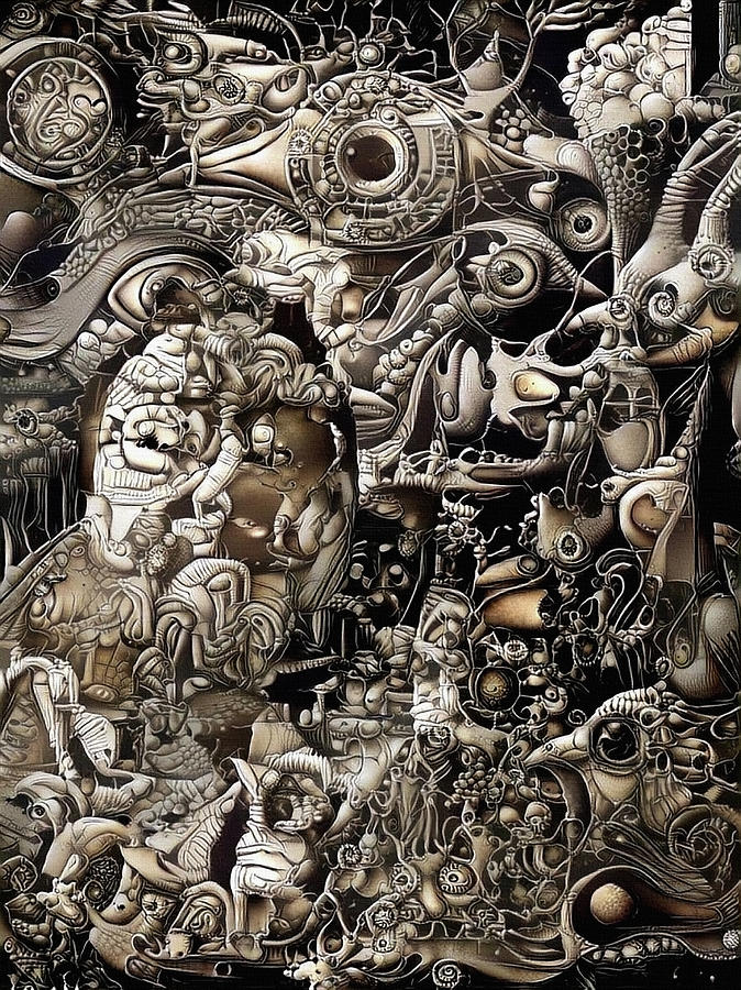 Surreal Fantasy. Bio Mechanical Style Digital Art
