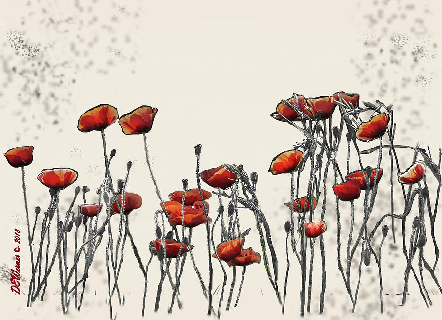 Surreal Group Of Poppies Photograph