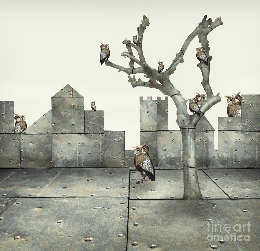Small Digital Art - Surreal Illustration Of Many Small by Valentina Photos