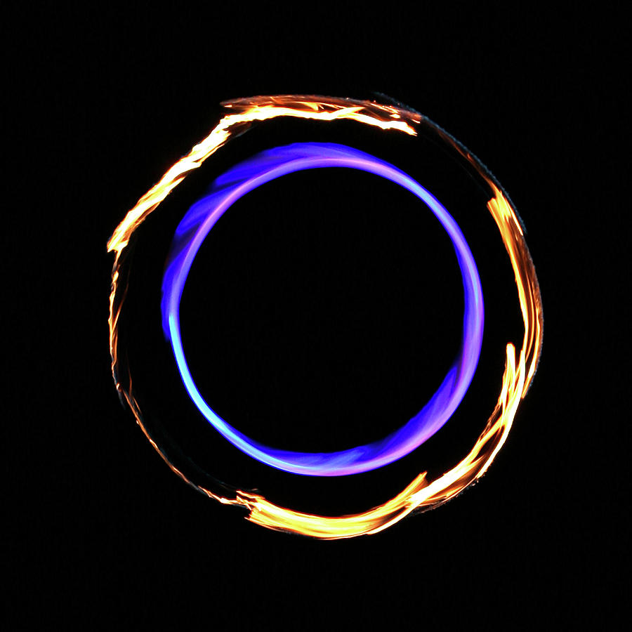 Surreal Infinity Flame Fire Circle Photograph by Jena Ardell