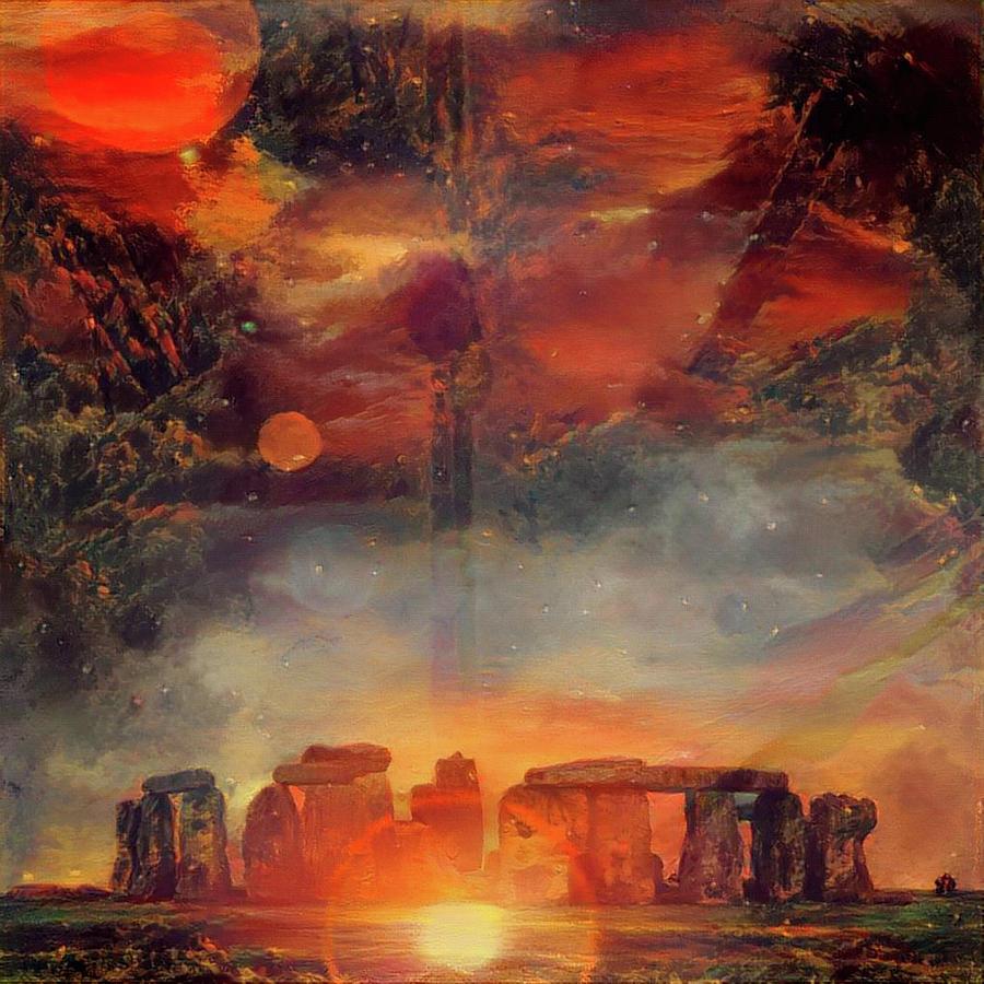 Surreal Stonehenge Digital Art