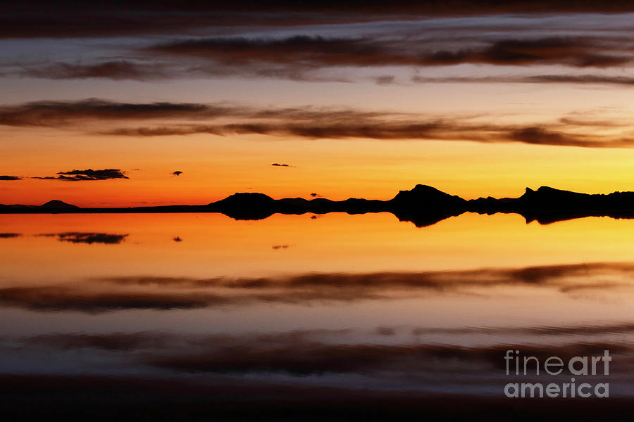 Surreal Sunset Salar De Uyuni Bolivia