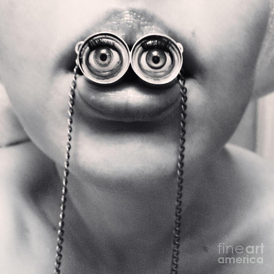 Bizarre Photograph - Surrealistic Grungy Portrait Of A Girl by Dinga