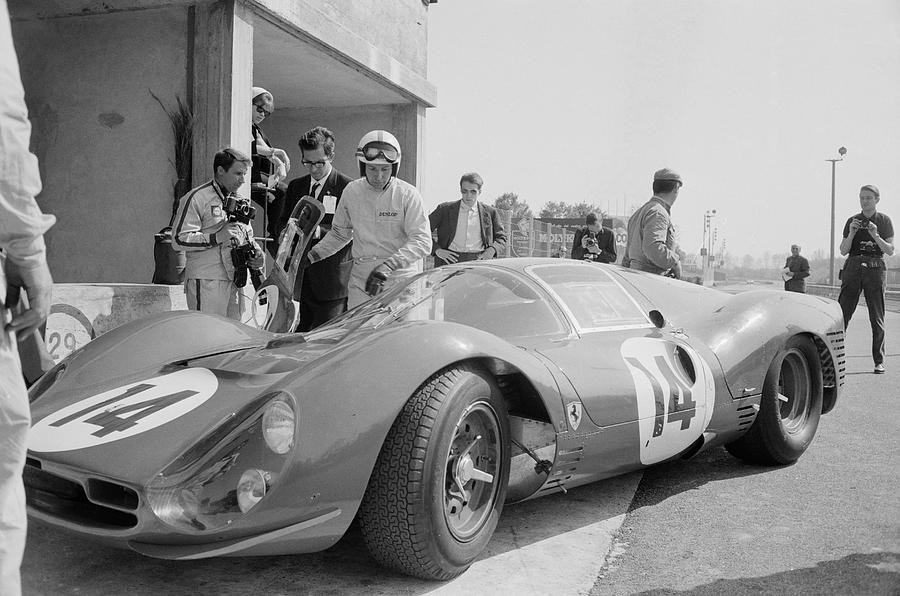 Surtees Tests Ferrari Photograph by Reg Lancaster