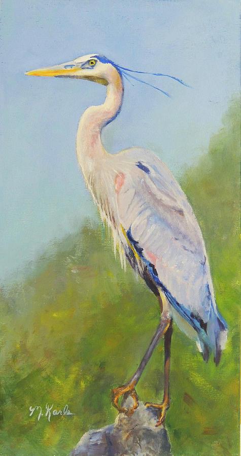 Surveyor - Great Blue Heron by Marsha Karle
