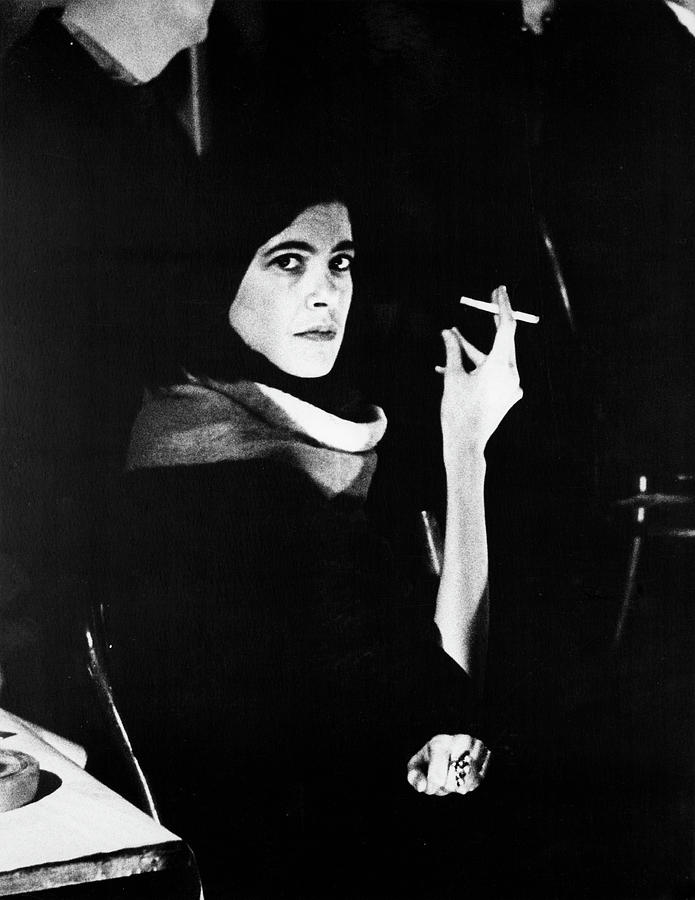 Susan Sontag At Mills Hotel Photograph by Fred W. McDarrah