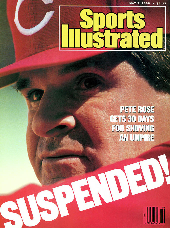 Suspended Pete Rose Gets 30 Days For Shoving An Umpire Sports Illustrated Cover Photograph by Sports Illustrated