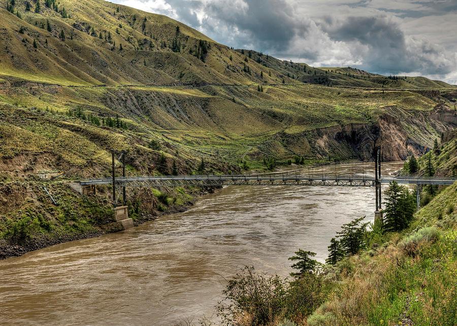 Suspension Bridge Near The Gang Ranch by Doug Matthews