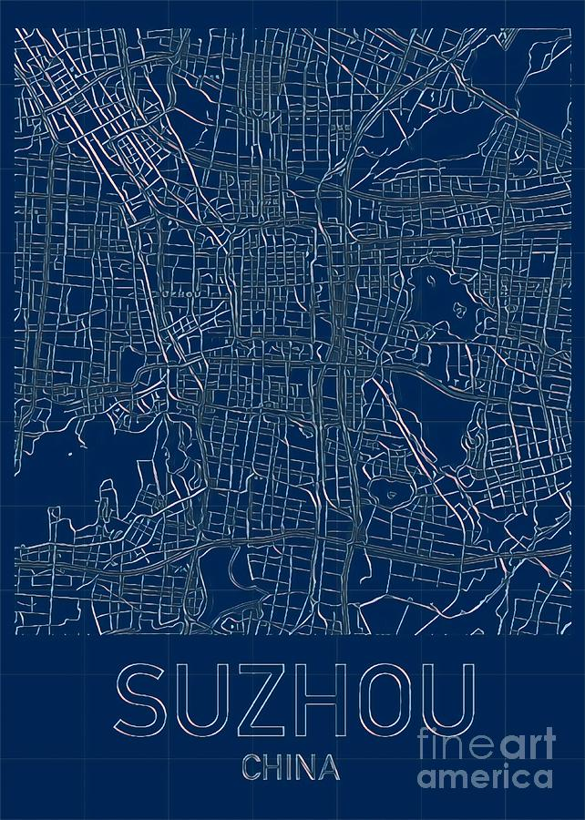 Suzhou Blueprint City Map by HELGE