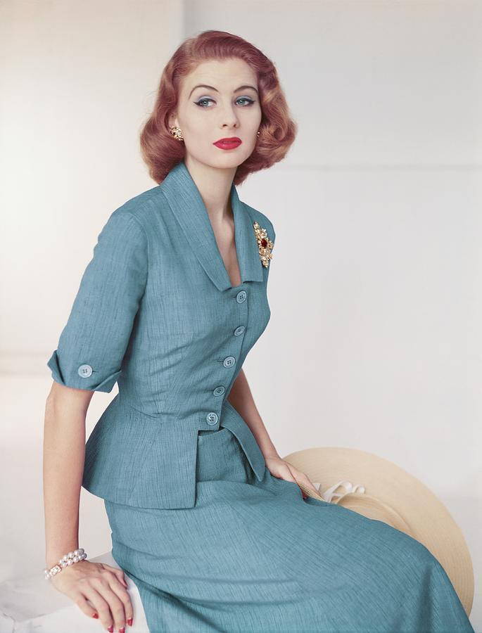 Suzy Parker In A Brigance Suit Photograph by Horst P. Horst