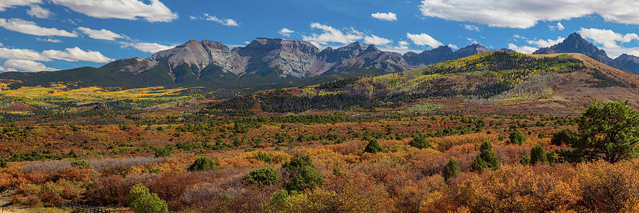 Ridgeway Photograph - Sw Autumn Colorado Rocky Mountains Panoramic View Pt1 by James BO Insogna