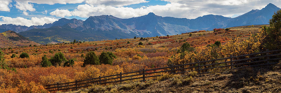 Ridgeway Photograph - Sw Autumn Colorado Rocky Mountains Panoramic View Pt2 by James BO Insogna