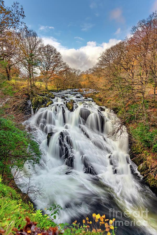 Swallow Falls Photograph - Swallow Falls Snowdonia by Adrian Evans
