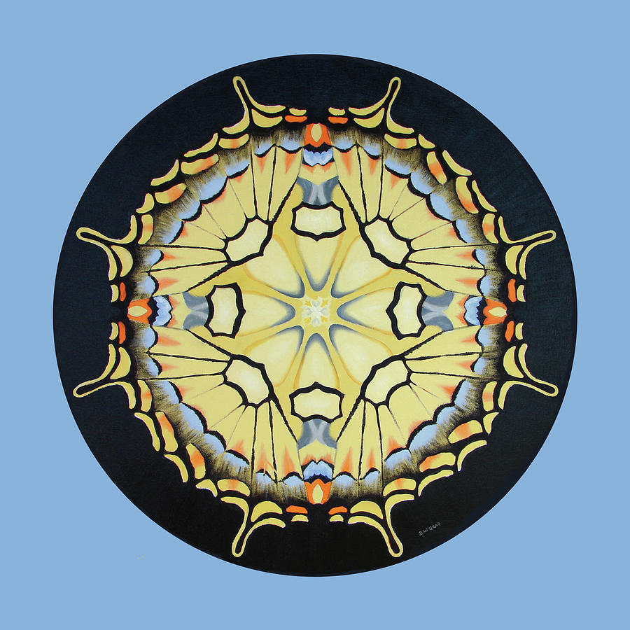 Swallowtail Mandala by Betsy Gray