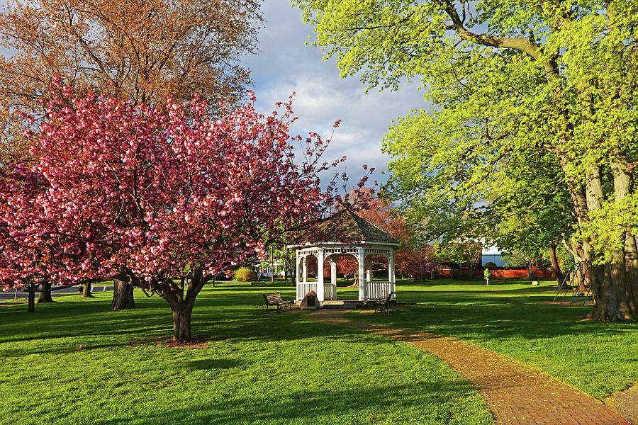 Swampscott Gazebo in the Spring Swampscott MA North Shore by Toby McGuire