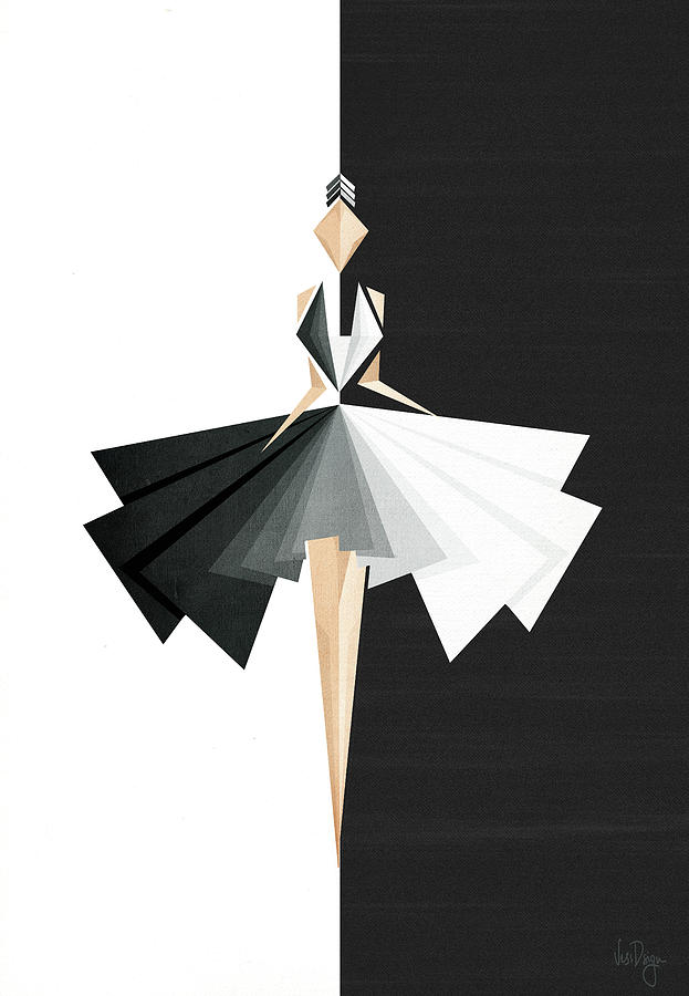 Dance Digital Art - Swan Lake by Vess DSign