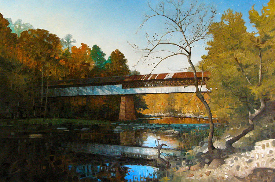 Swann Covered Bridge In Early Autumn by T S Carson