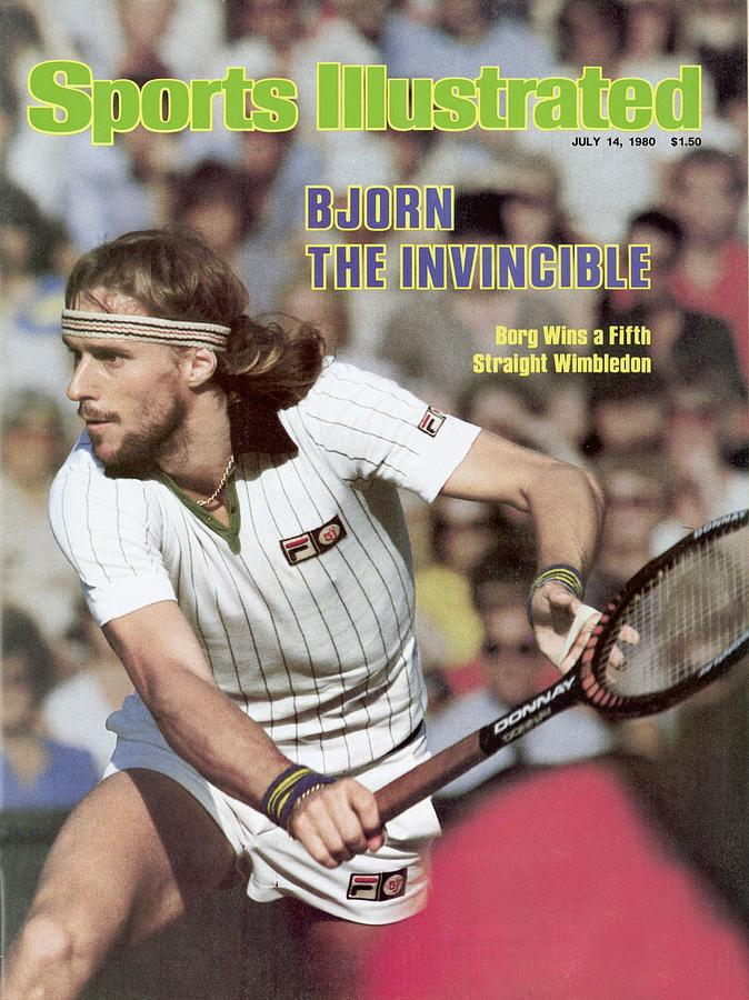 Sweden Bjorn Borg, 1980 Wimbledon Sports Illustrated Cover Photograph by Sports Illustrated