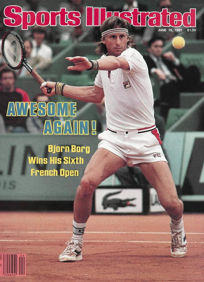 Sweden Bjorn Borg, 1981 French Open Sports Illustrated Cover Photograph by Sports Illustrated