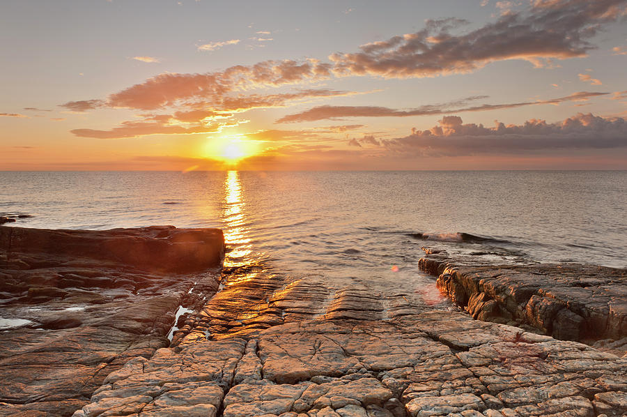 Sweden, Simrishamn, View Of Rocky Shore Photograph by Westend61