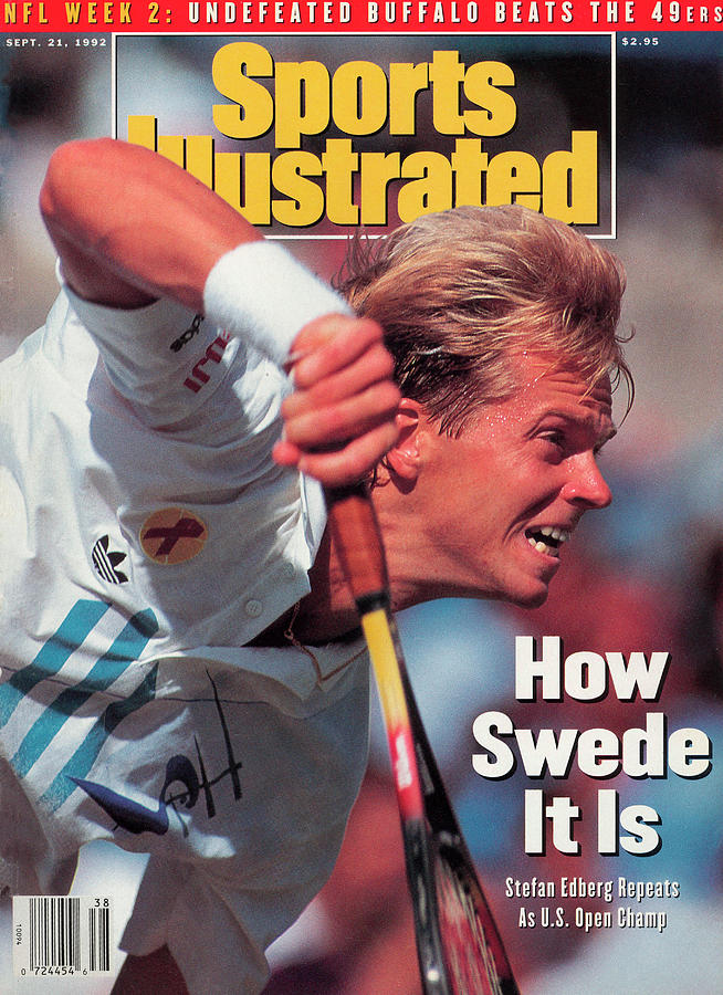 Sweden Stefan Edber, 1992 Us Open Sports Illustrated Cover Photograph by Sports Illustrated