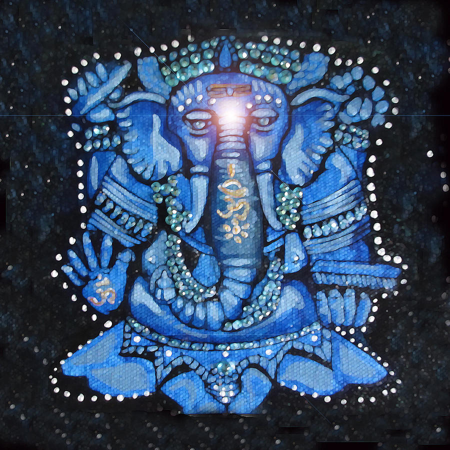 Sweet Blue Ganesha by Patricia Arroyo